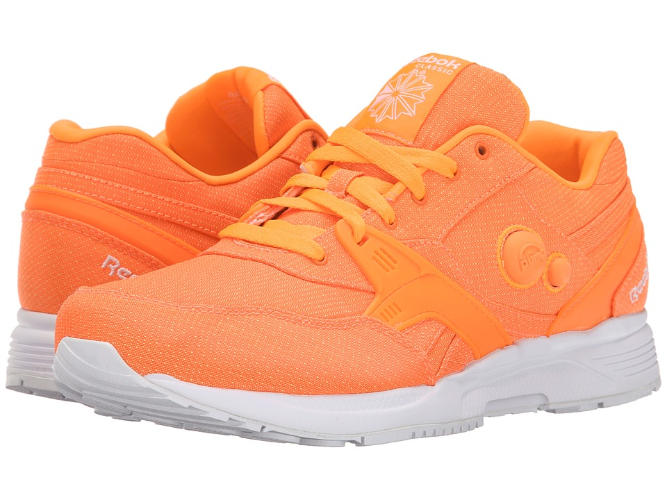 Reebok - Pump Running Dual Tech (Solar Orange/White) Men