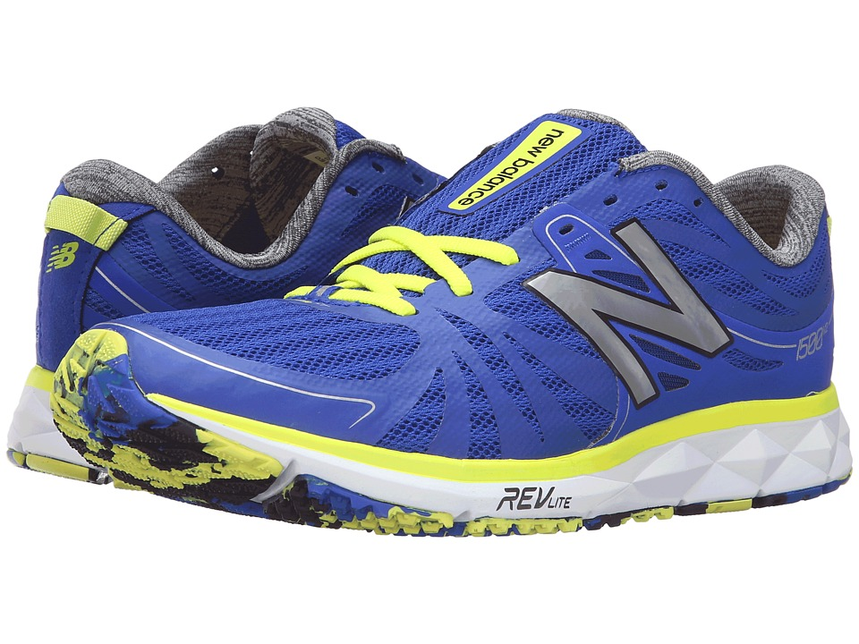 New Balance - M1500v2 (Blue/Yellow) Men's Running Shoes