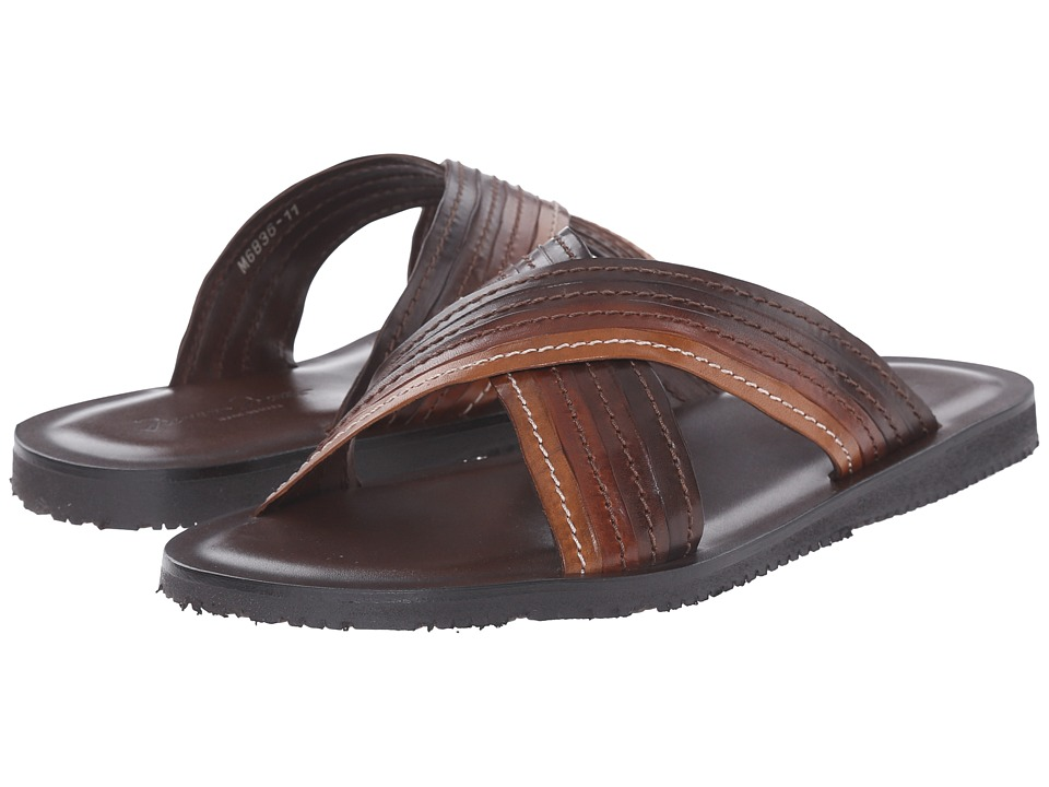 Massimo Matteo - Cross Slide (Marrone) Men's Dress Sandals