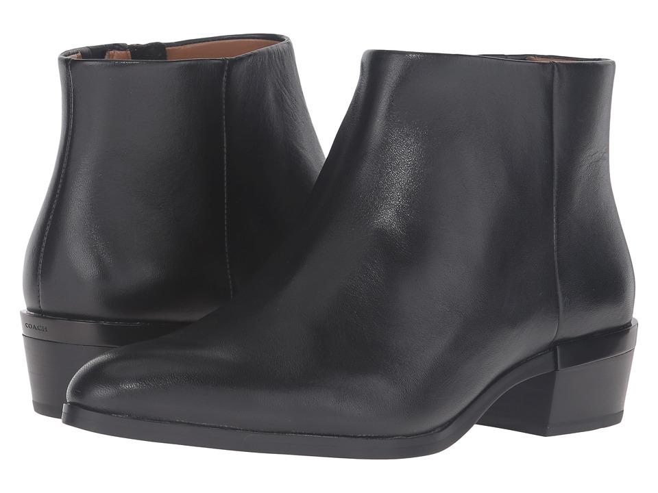 COACH - Montana (Black) Women's Zip Boots