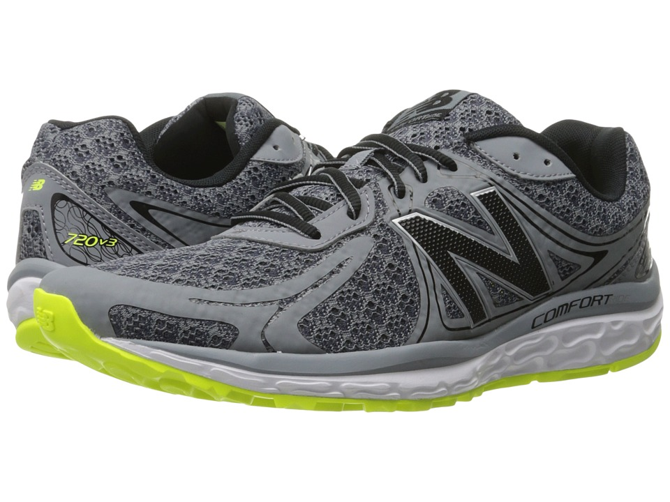New Balance - 720v3 (Grey/Firefly) Men's Running Shoes