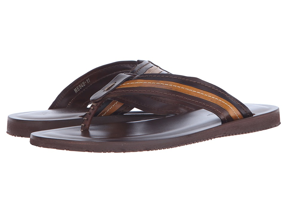 Massimo Matteo Multi Color Thong (Brown/Brandy/Tan) Men