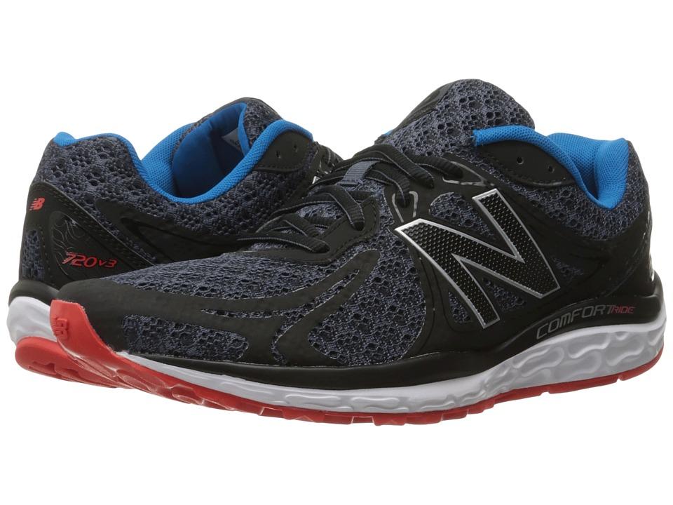 New Balance - 720v3 (Black/Grey) Men's Running Shoes