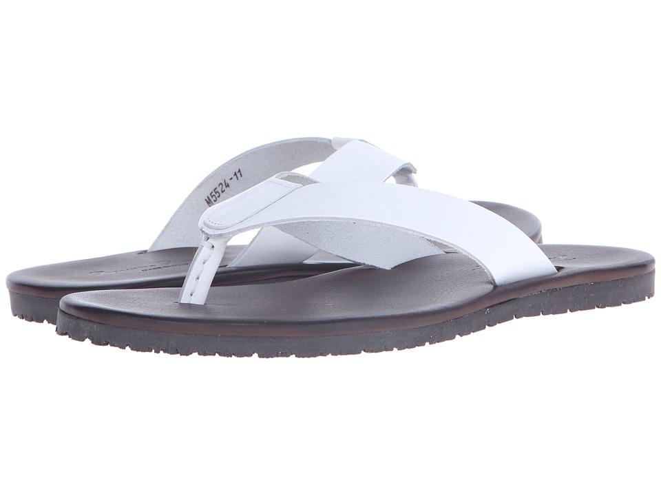 Massimo Matteo Leather Thong Sandal (White) Men