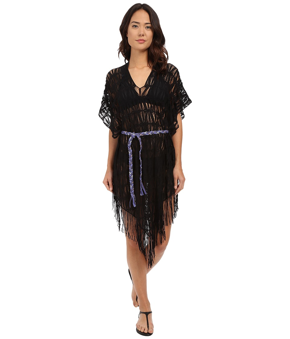 Maaji - Chasing Stars Poncho Cover-Up (Black) Women's Swimwear
