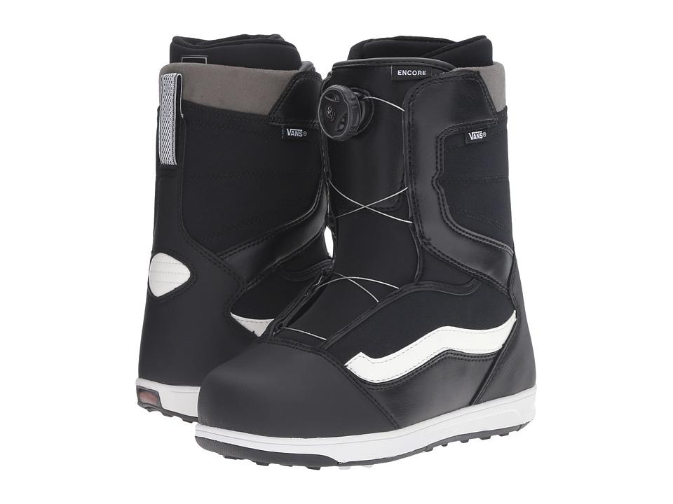 Vans - Encore '17 (Big Kid) (Black/White) Cold Weather Boots