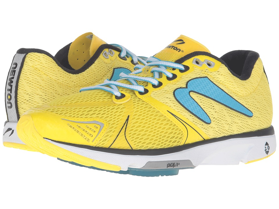 Newton Running - Distance V (Yellow/Blue) Women's Running Shoes