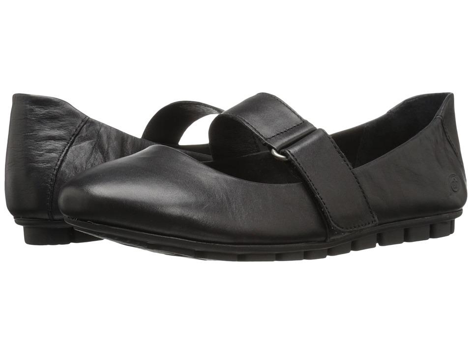 Born - Malli (Black Full Grain Leather) Women's Flat Shoes