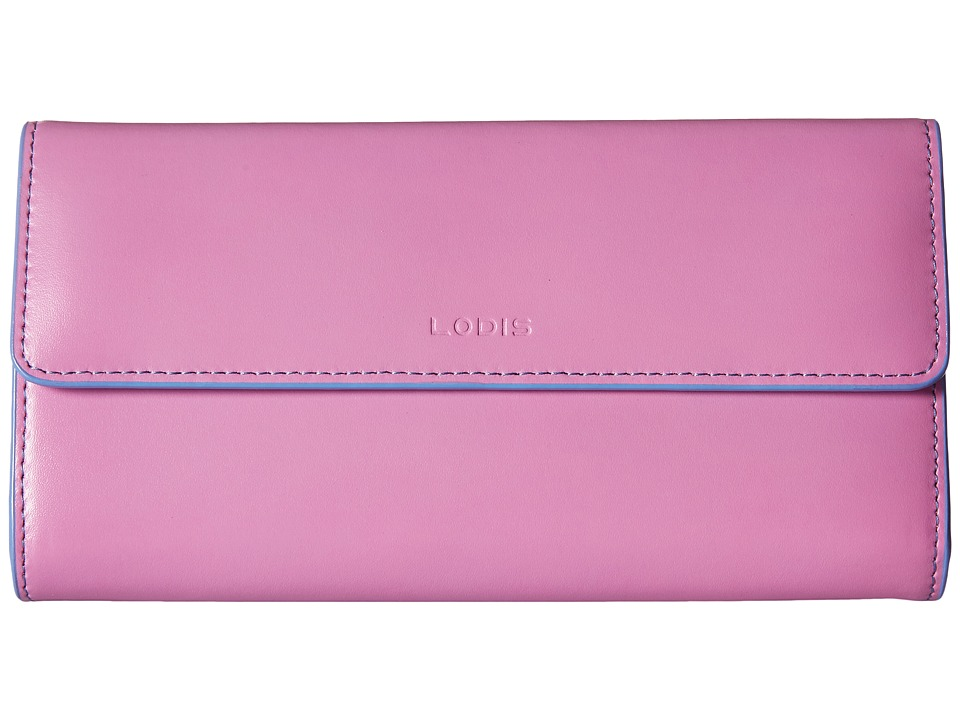 Lodis Accessories - Audrey Checkbook Clutch (Rose/Lilac) Wallet Handbags