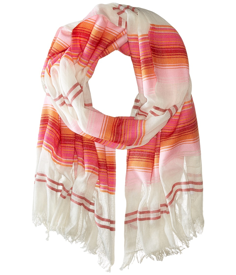 Echo Design - Island Stripe Wrap (Hot Pepper Red) Scarves