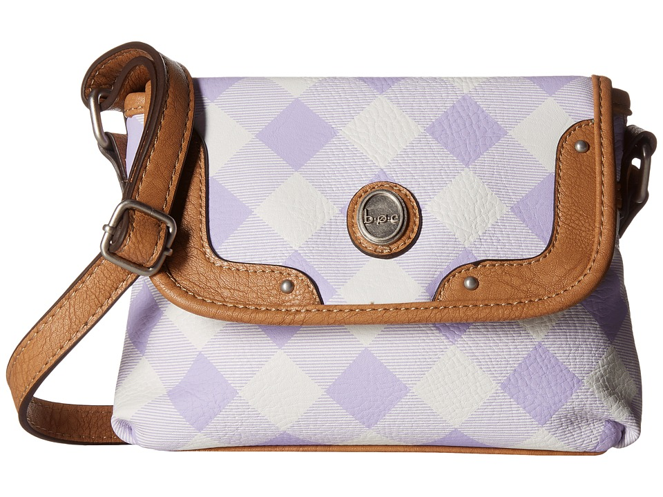b.o.c. - Manor Heights Flap Crossbody (Purple) Cross Body Handbags