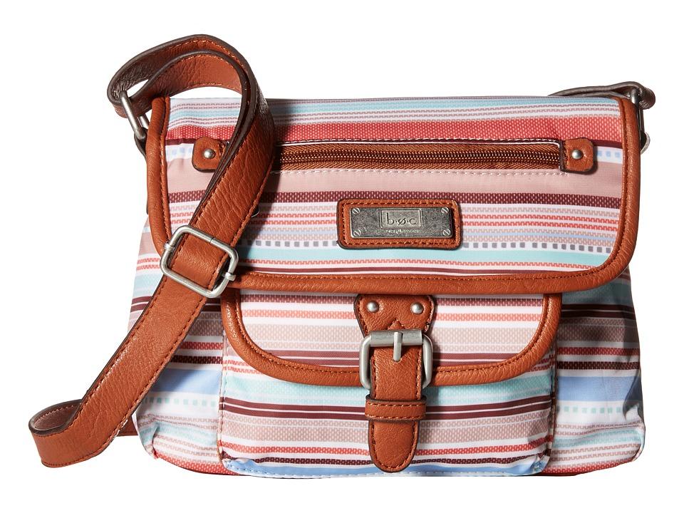 b.o.c. - Primavera East/West Flap Crossbody (Stripe) Cross Body Handbags