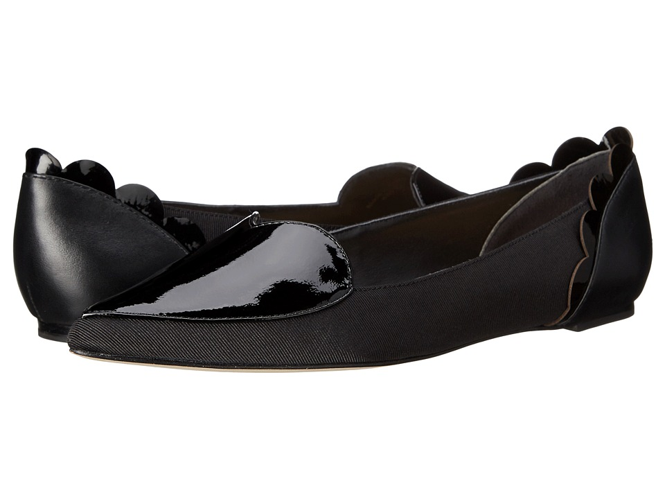 Isa Tapia - Clement (Black Peau de Soie/Patent) Women's Shoes