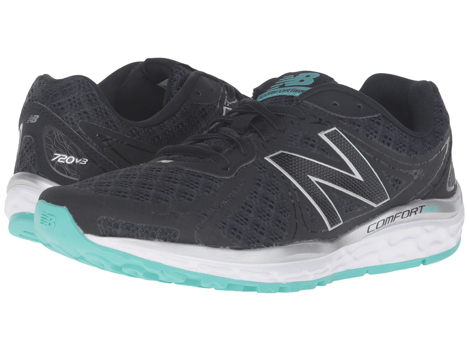 New Balance - 720v3 (Black/Aquarius) Women's Running Shoes