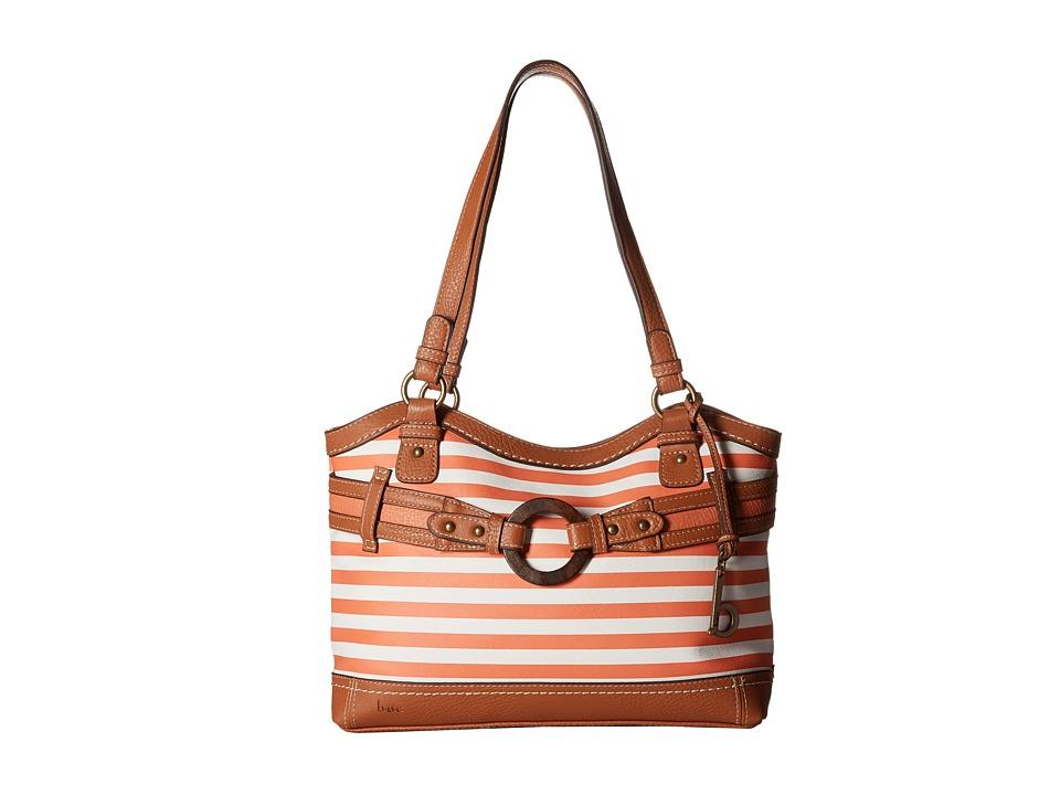b.o.c. - Nayarit Tote Stripe (Coral) Tote Handbags