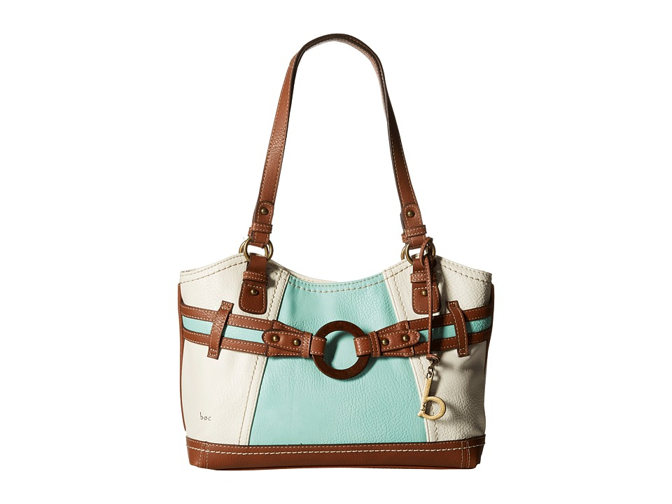 b.o.c. - Nayarit Color Block Scoop Tote (Mint) Tote Handbags