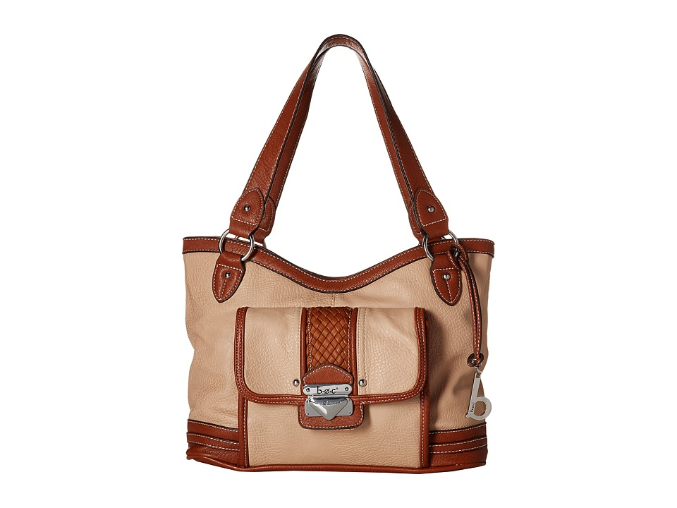 b.o.c. - Hadley Large Shopper Tote (Stone) Tote Handbags