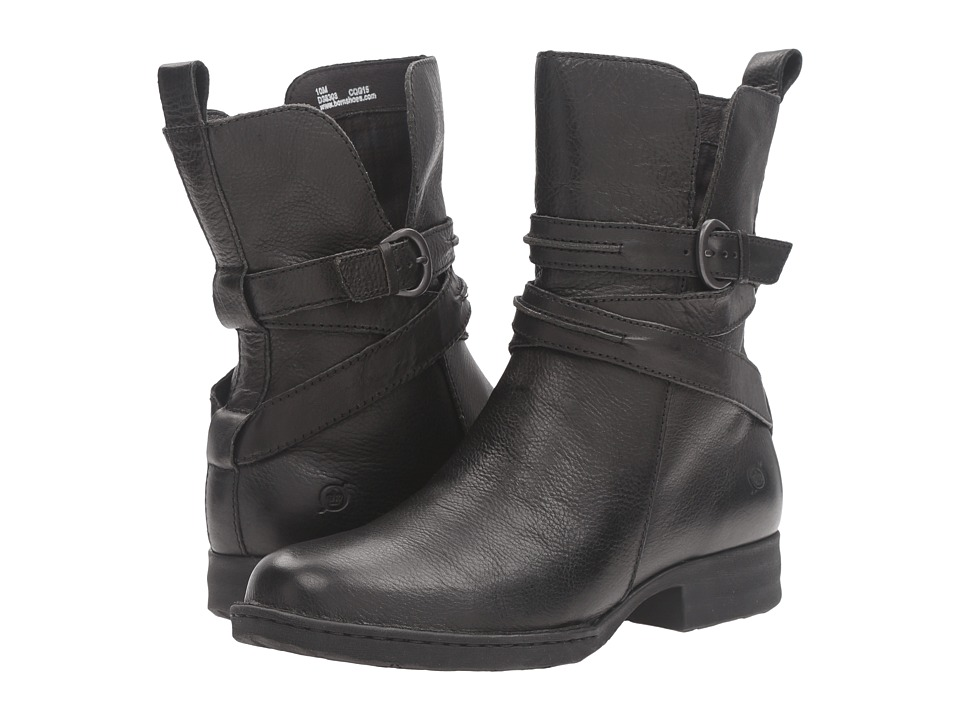Born - Leandra (Black Full Grain Leather) Women's Pull-on Boots
