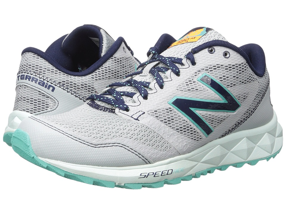 New Balance - 590 V2 (Grey/Navy) Women's Running Shoes