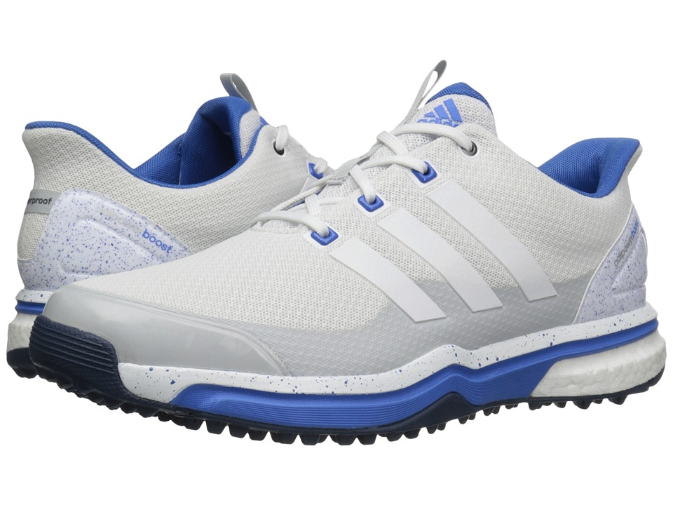 adidas Golf - Adipower Sport Boost 2 (Ftwr White/Clear Grey/Ray Blue) Men's Golf Shoes