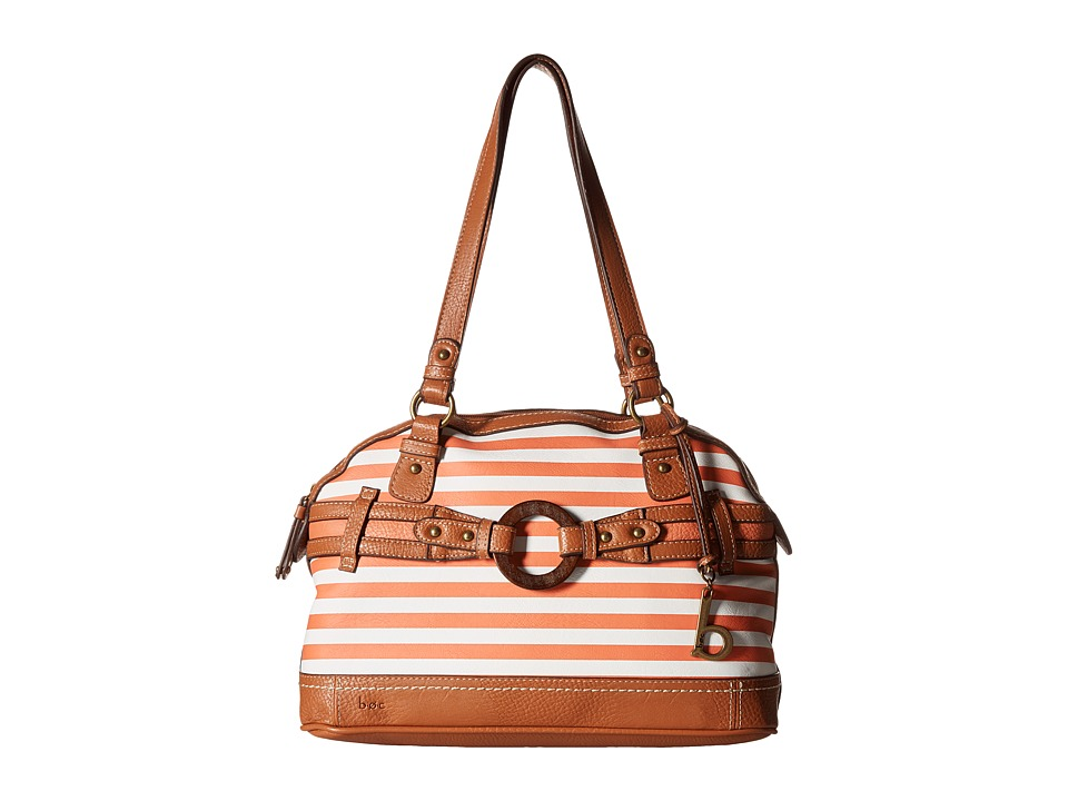 b.o.c. - Nayarit Satchel Stripe (Coral) Shoulder Handbags