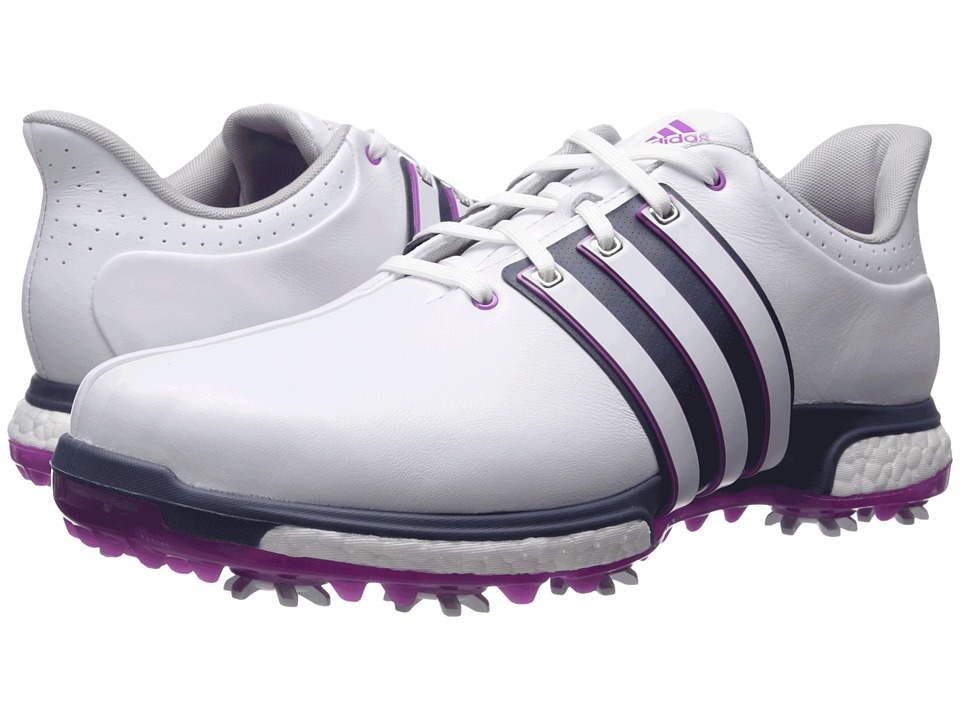adidas Golf - Tour 360 Boost (Ftwr White/Flash Pink/Mineral Blue) Men's Golf Shoes