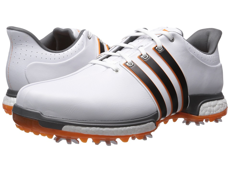 adidas Golf - Tour 360 Boost (Ftwr White/Core Black/Unity Orange) Men's Golf Shoes