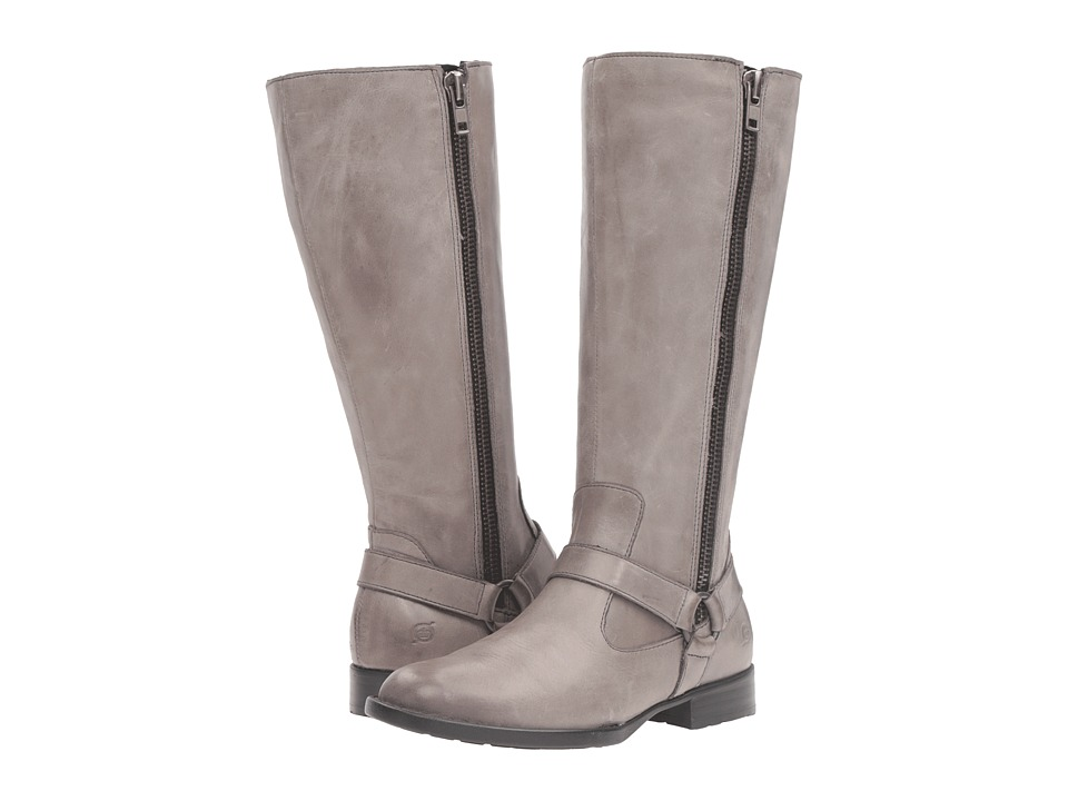 Born - Delall (Grey Full Grain Leather) Women's Shoes