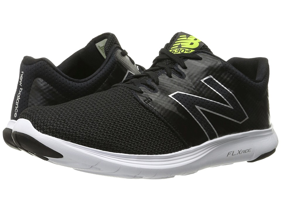 New Balance - M530v2 (Black/Grey) Men's Running Shoes