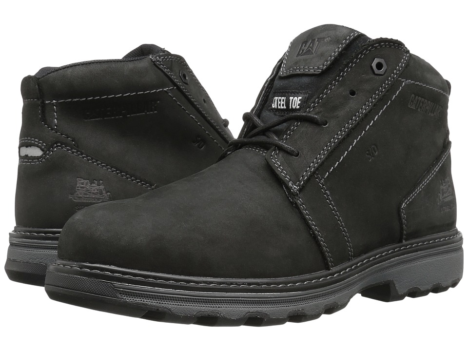 Caterpillar - Parker ESD Steel Toe (Black) Men's Work Lace-up Boots