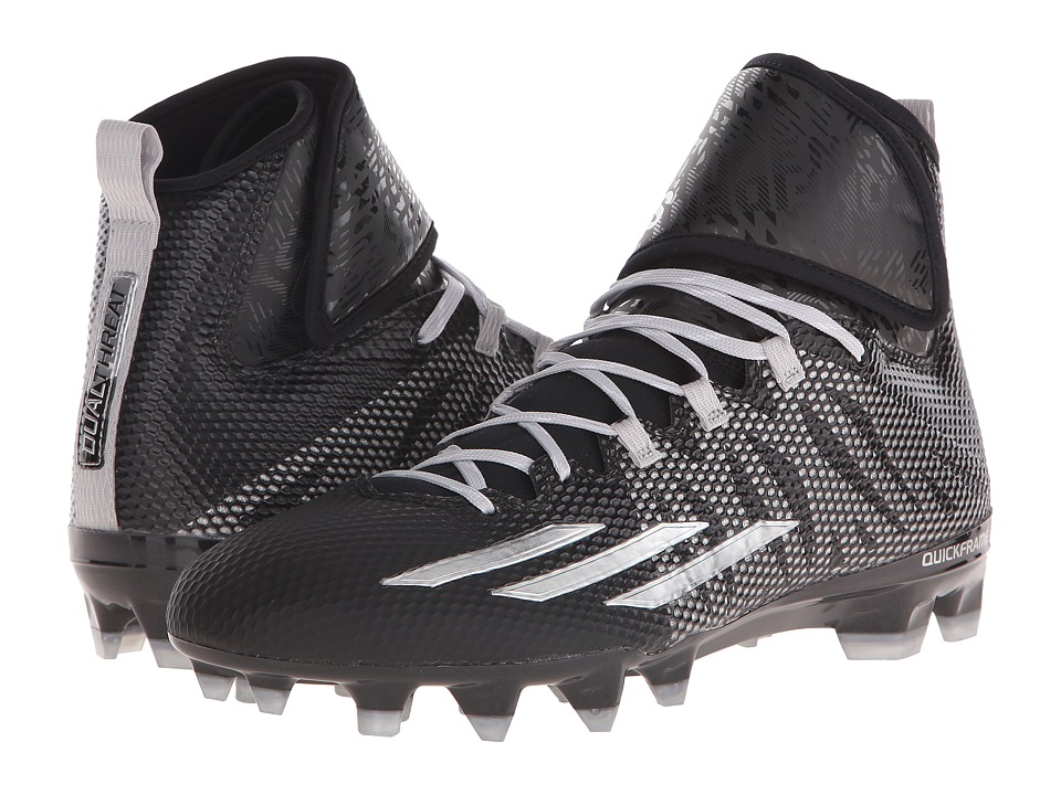 adidas - Dualthreat Mid (Black/Platinum) Men's Shoes