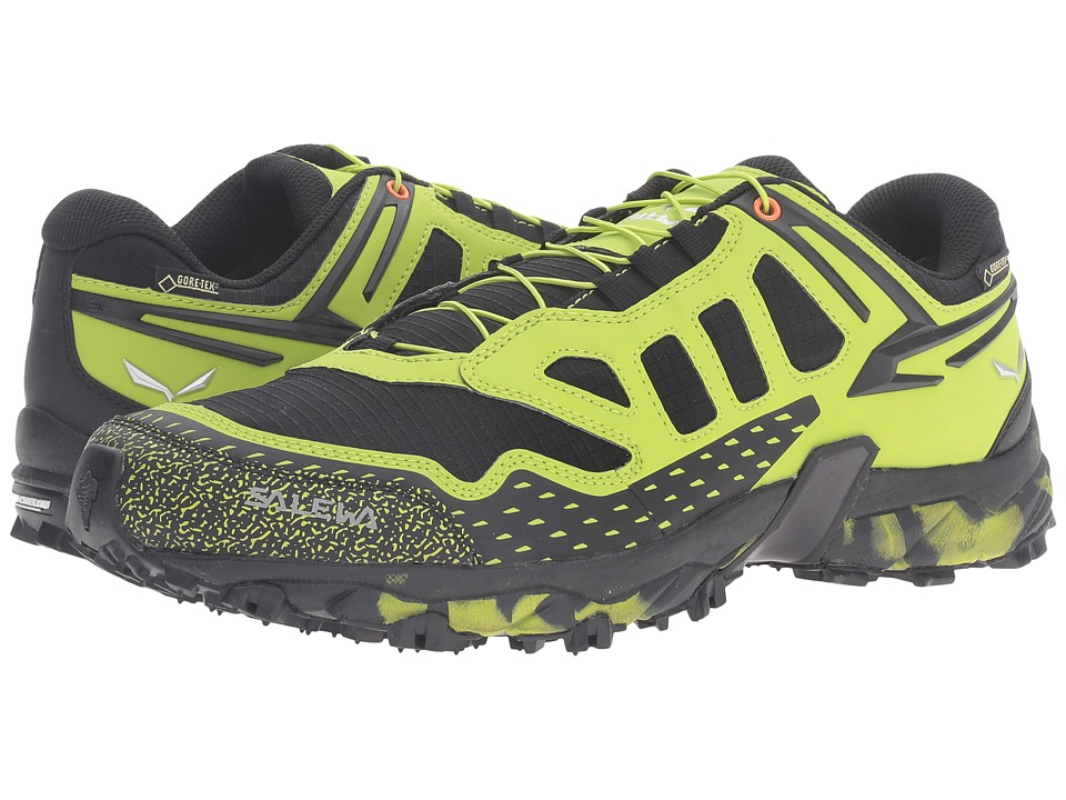 SALEWA - Ultra Train GTX (Black Out/Green) Men's Shoes
