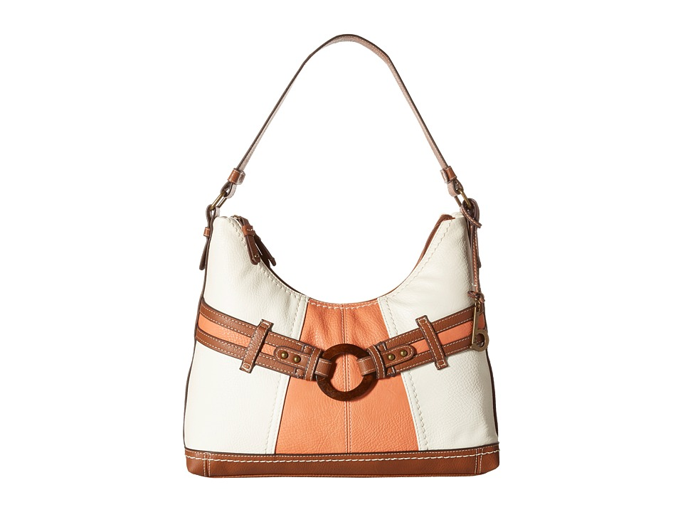 b.o.c. - Nayarit Color Block Scoop Hobo (Coral) Hobo Handbags