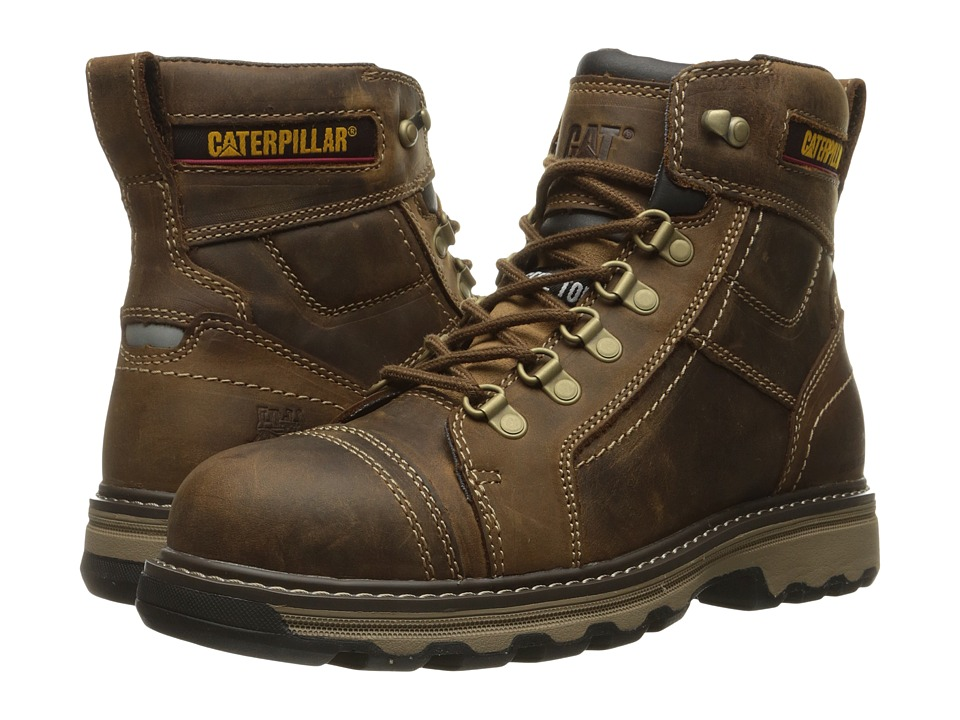 Caterpillar - Granger 6 Steel Toe (Dark Beige) Men's Work Lace-up Boots