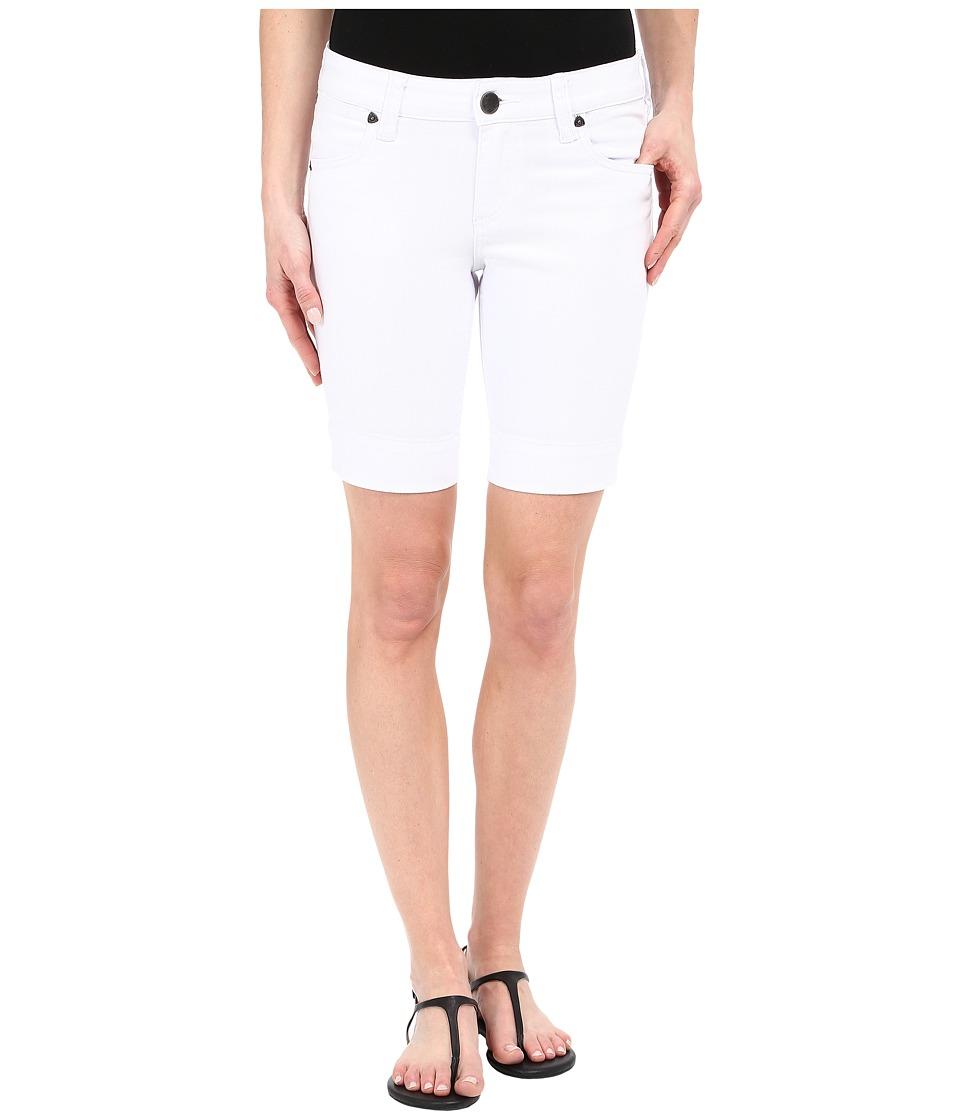 KUT from the Kloth - Petite Natalie Bermuda Shorts in Optic White (Optic White) Women's Shorts