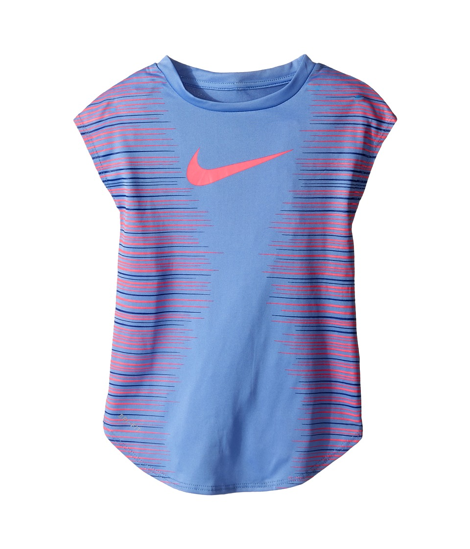Nike Kids - KTA882 Dri-FIT Tee (Little Kids) (Chalk Blue) Girl's Short Sleeve Pullover