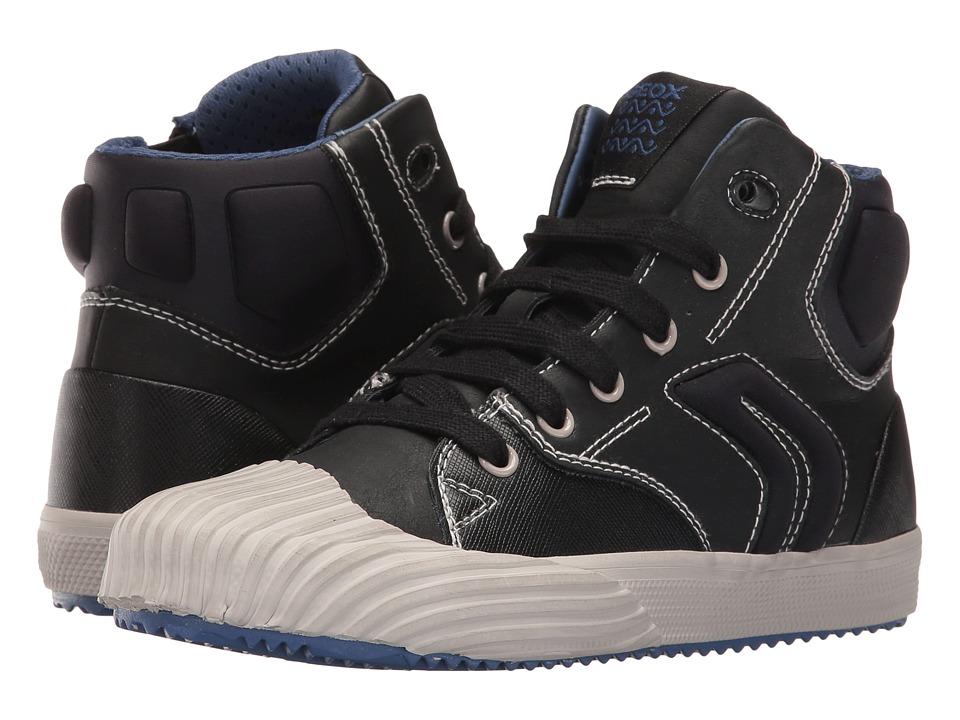 Geox Kids - Jr Alonisso Boy 3 (Little Kid/Big Kid) (Black/Blue) Boy's Shoes