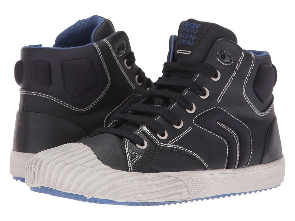 Geox Kids - Jr Alonisso Boy 3 (Big Kid) (Black/Blue) Boy's Shoes