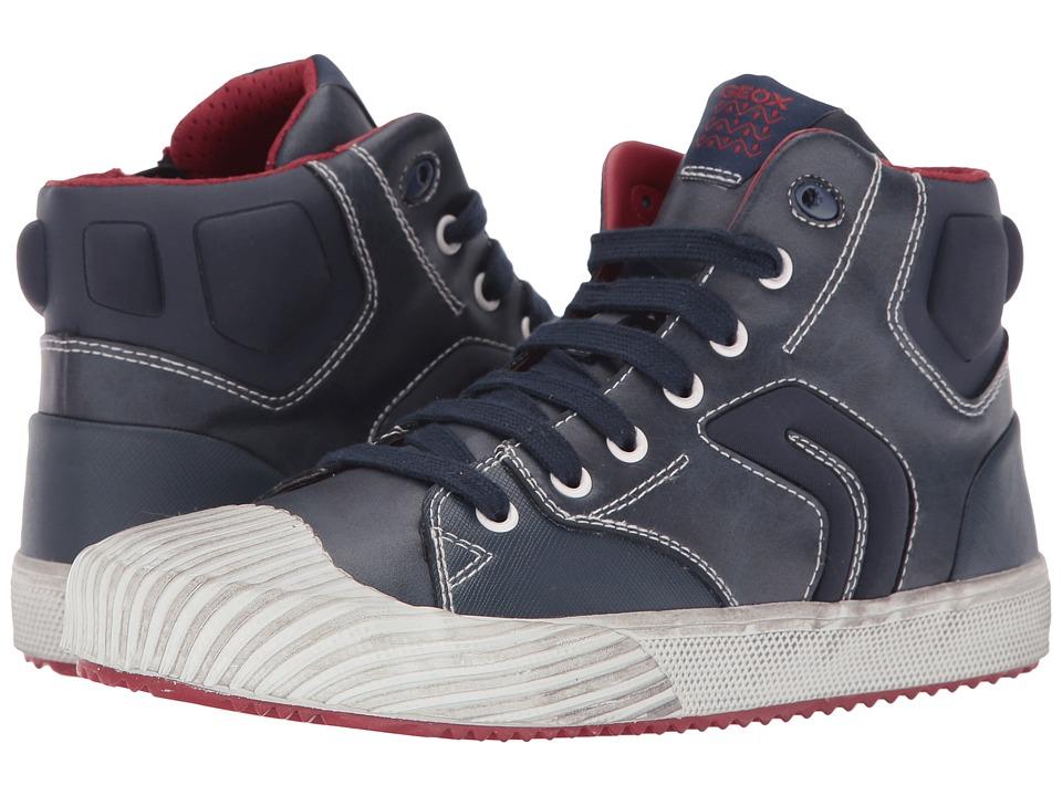 Geox Kids - Jr Alonisso Boy 3 (Big Kid) (Navy/Red) Boy's Shoes