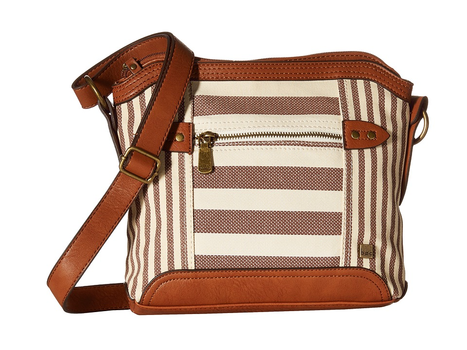 b.o.c. - Lemoore Canvas Crossbody (Cocoa) Cross Body Handbags