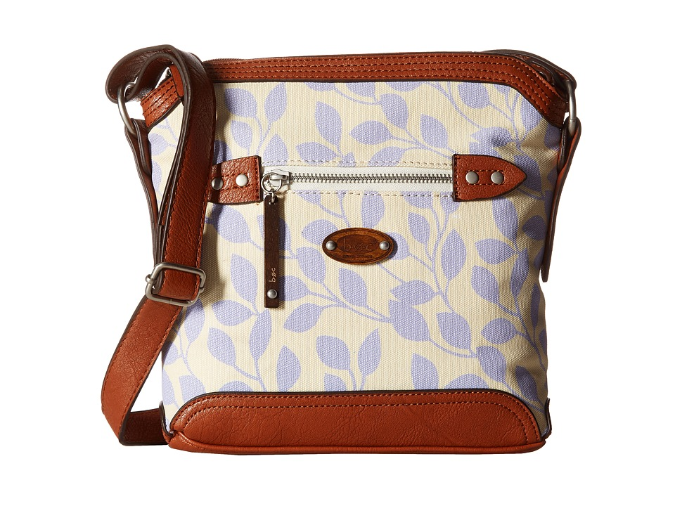 b.o.c. - Santa Barbara Crossbody (Purple Leaves) Cross Body Handbags