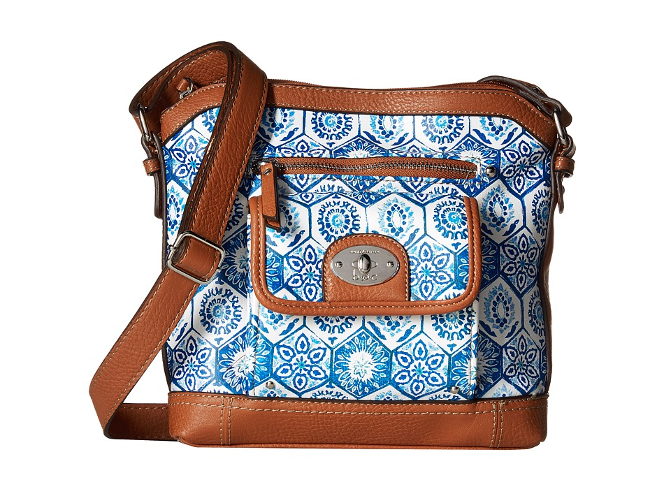 b.o.c. - Rosebank North/South Crossbody Mosaic (Marine) Cross Body Handbags