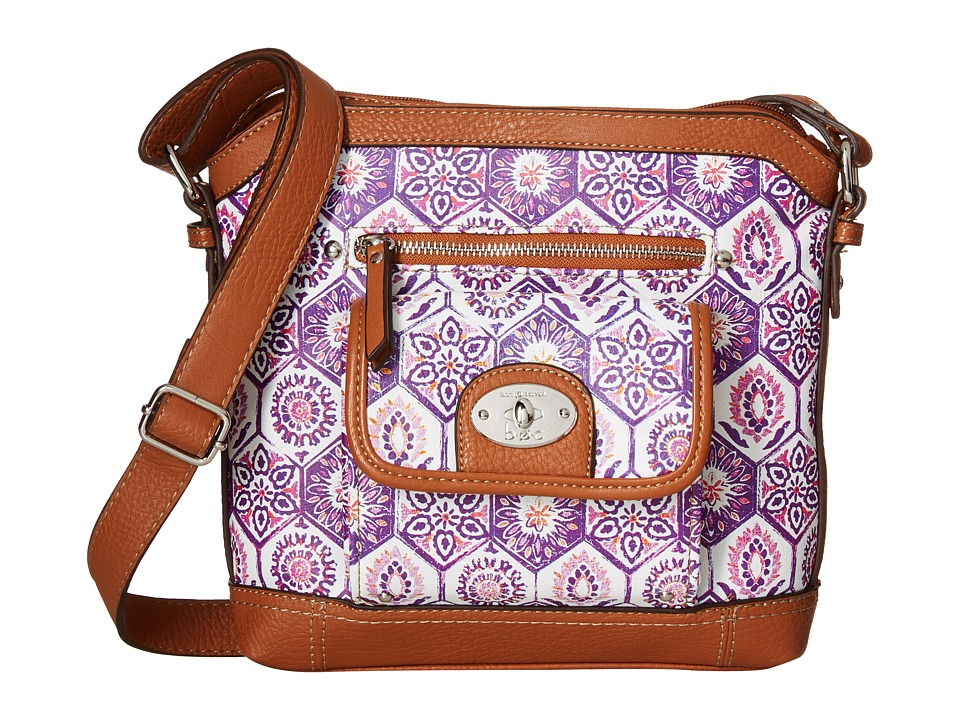 b.o.c. - Rosebank North/South Crossbody Mosaic (Purple) Cross Body Handbags