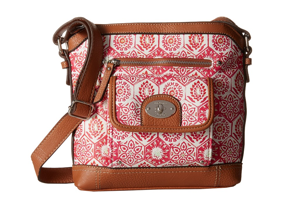 b.o.c. - Rosebank North/South Crossbody Mosaic (Papaya) Cross Body Handbags