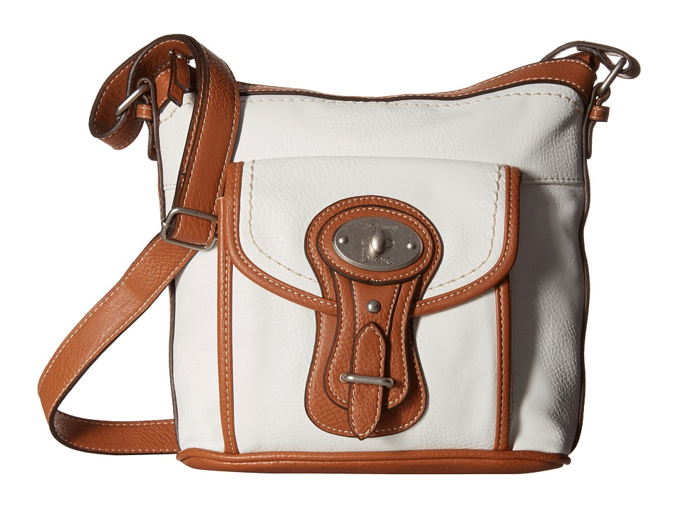 b.o.c. - Chelmsford Large North/South Crossbody (White) Cross Body Handbags