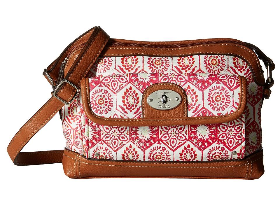 b.o.c. - Rosebank East/West Crossbody Mosaic (Papaya) Cross Body Handbags