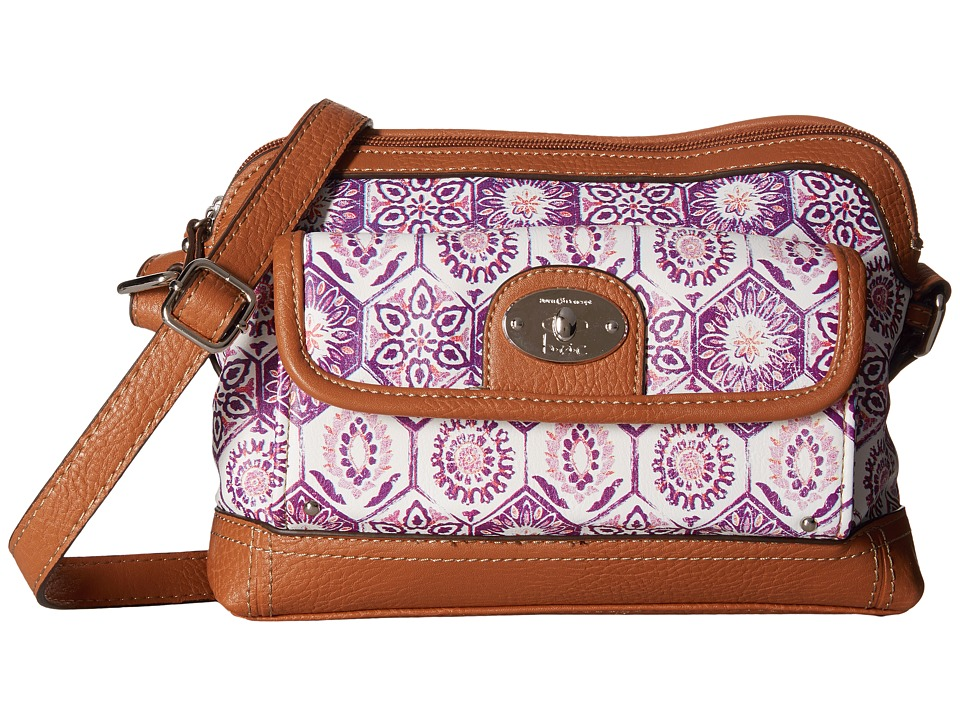 b.o.c. - Rosebank East/West Crossbody Mosaic (Purple) Cross Body Handbags