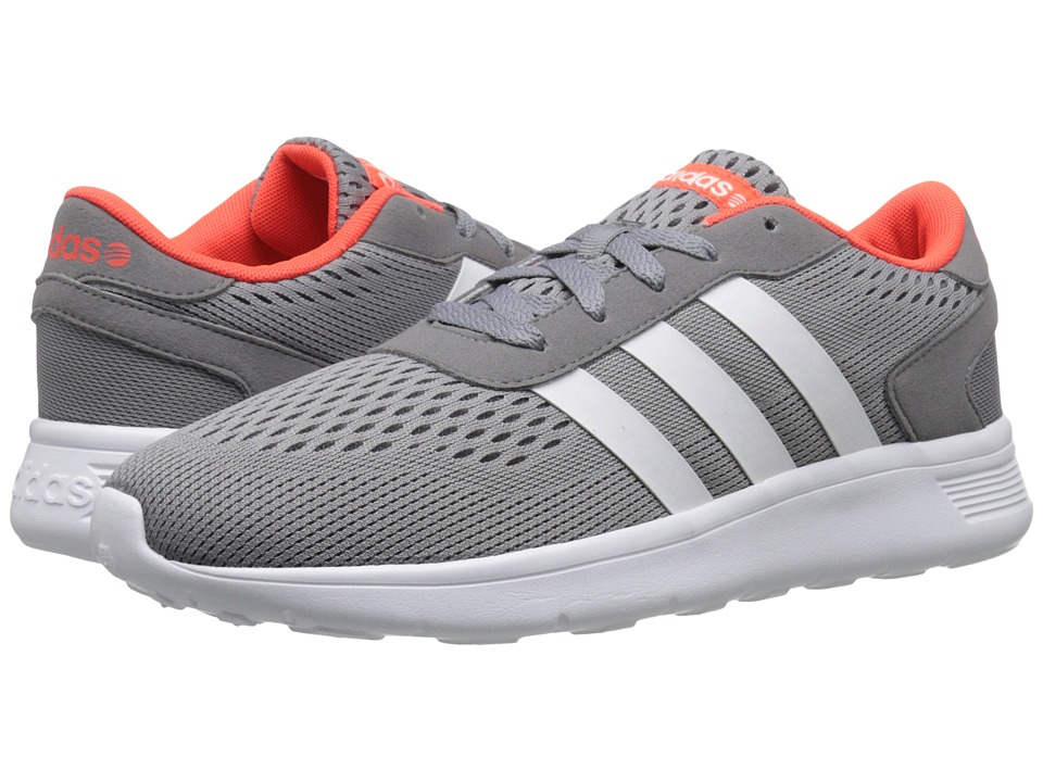 adidas - Lite Racer Engineered (Grey/White/Solar Red) Men