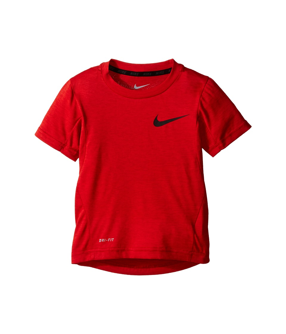 Nike Kids - Dri-FITtm Training Short Sleeve Top (Toddler) (University Red Heather) Boy's Short Sleeve Pullover