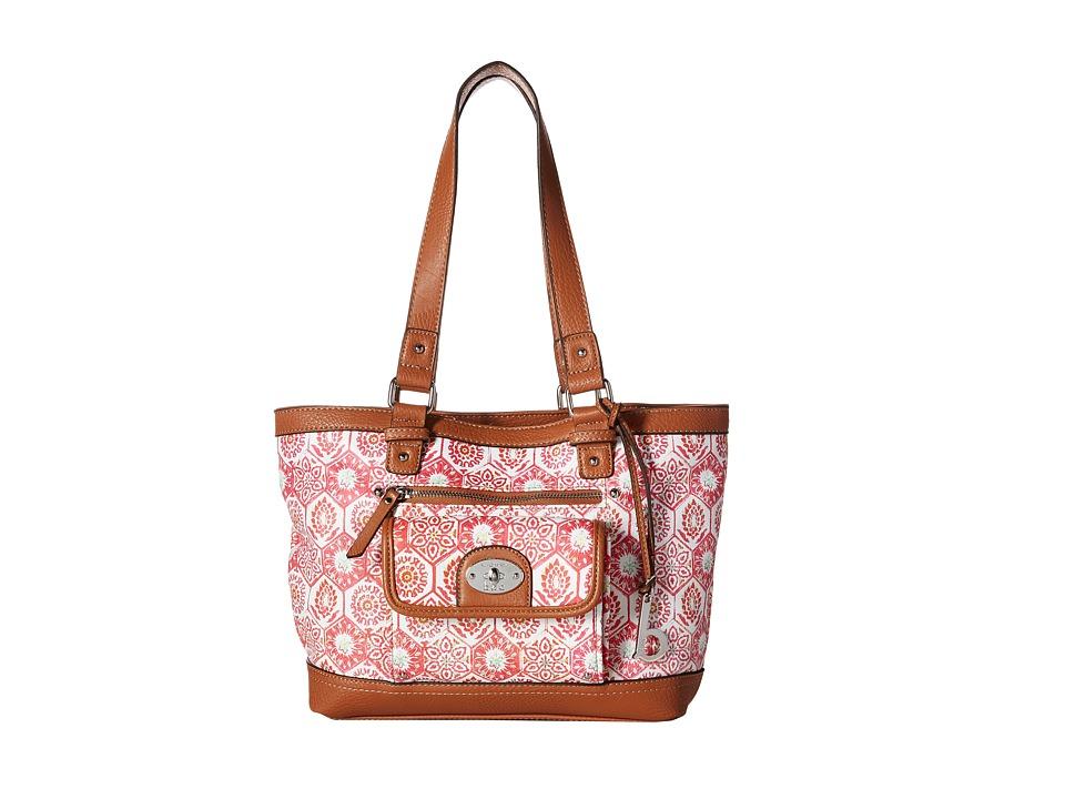 b.o.c. - Rosebank Tote Mosaic (Papaya) Tote Handbags
